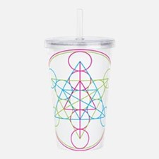 Cute Geometry Acrylic Double-wall Tumbler