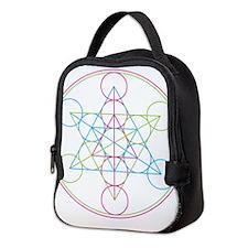 Cute Geometry Neoprene Lunch Bag