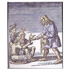 Giving money to beggars. ^In Praise of Folly^ by E Poster