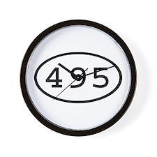 495 Oval Wall Clock