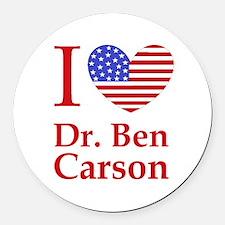 Funny Ben carson Round Car Magnet