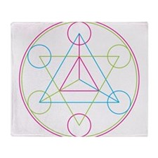 Star tetrahedron Throw Blanket
