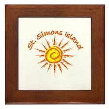 St. Simons Island, Georgia Framed Tile