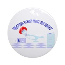 Cute Floss Ornament (Round)