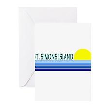 St. Simons Island, Georgia Greeting Cards (Package