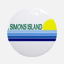 St. Simons Island, Georgia Ornament (Round)