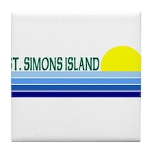 St. Simons Island, Georgia Tile Coaster