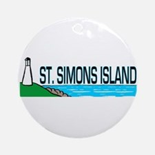 St. Simons Island Ornament (Round)