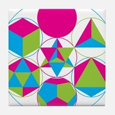 Sacred geometry Tile Coaster
