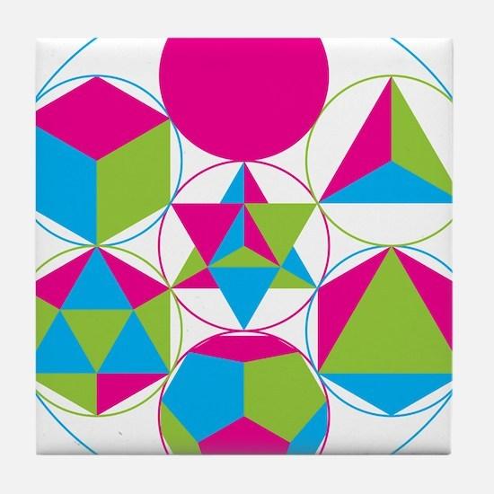 Cute Metatron Tile Coaster