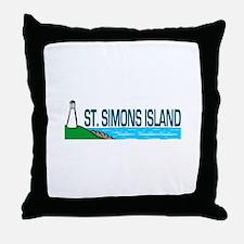 St. Simons Island Throw Pillow