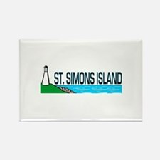 St. Simons Island Rectangle Magnet