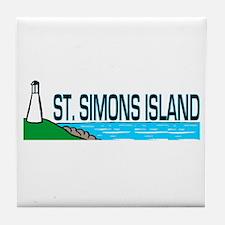 St. Simons Island Tile Coaster