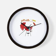 Grill Skills Wall Clock
