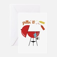 Grillin It Greeting Cards
