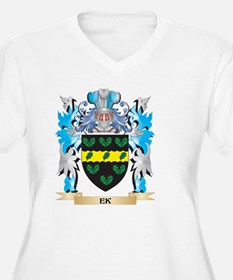 Ek Coat of Arms - Family Crest Plus Size T-Shirt