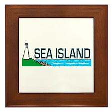 Sea Island, Georgia Framed Tile