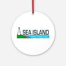 Sea Island, Georgia Ornament (Round)