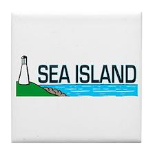 Sea Island, Georgia Tile Coaster