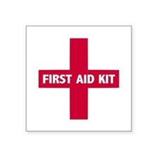 First Aid Kit Sign Sticker