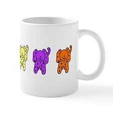 Multi-colored Puppies Mug