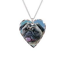 Painted Pug Dog Necklace