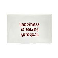happiness is eating kumquat Rectangle Magnet