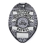 North Dakota Highway Patrol Oval Ornament