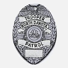 North Dakota Highway Patrol Oval Ornament