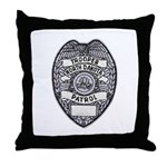 North Dakota Highway Patrol Throw Pillow