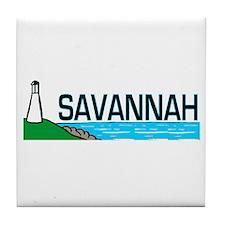 Savannah, Georgia Tile Coaster