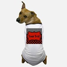 Red Black Polka Dot Personalizable Dog T-Shirt