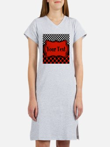 Red Black Polka Dot Personalizable Women's Nightsh