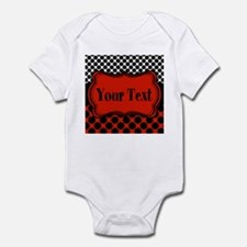 Red Black Polka Dot Personalizable Body Suit