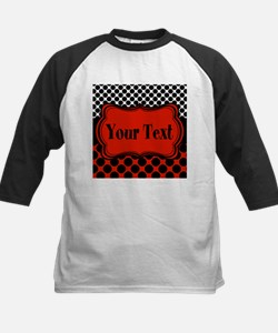 Red Black Polka Dot Personalizable Baseball Jersey