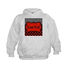 Red Black Polka Dot Personalizable Hoodie