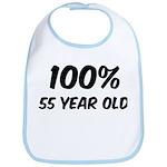 100 Percent 55 Year Old Bib