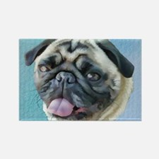Painted Pug Dog Magnets