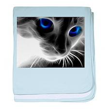 Cute Blue cat baby blanket
