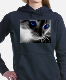 Funny Cat eye Women's Hooded Sweatshirt