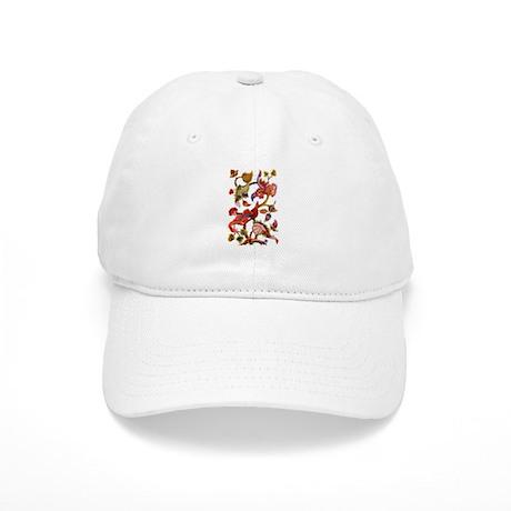 Jacobean Embroidery Cap