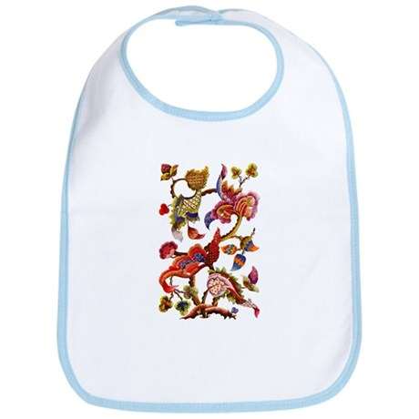 Jacobean Embroidery Bib