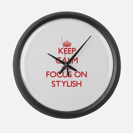 Cute Dressy Large Wall Clock