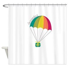 Incoming Parachute Shower Curtain