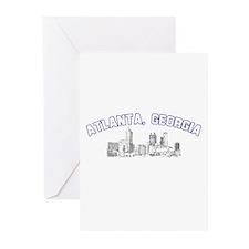 Atlanta, Georgia Skyline Greeting Cards (Package o