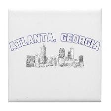 Atlanta, Georgia Skyline Tile Coaster