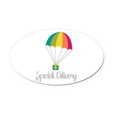 Special Delivery Oval Car Magnet