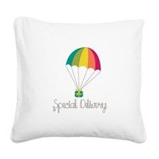 Special Delivery Square Canvas Pillow