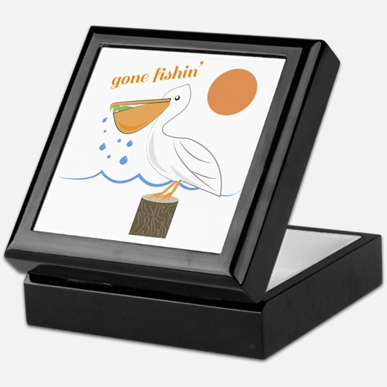 Gone Fishin Keepsake Box