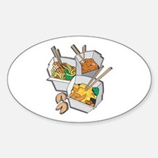 Chinese Takeout Oval Decal